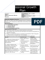 professional growth plan - with reflection