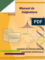Manual de Asignatura de Ecuaciones Diferenciales