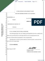 Reeder et al v. Metropolitan Life Insurance Company - Document No. 4