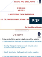 Oil-water Simulation - Impes Solution