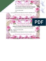 Tarjeta de Invitacion Mami Culto
