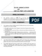 Articles of Association of Dadri Commercial Private