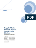 Supply Chain Management -MSIL