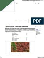 Combinación de Bandas Para Landsat 8