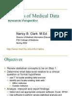 Analysis of Medical Data