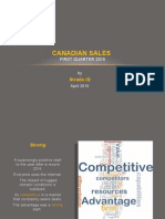 Canadian Sales First Qarter 2015