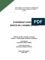 Descardes - Haiti, Vaudou, Droit de l'Homme