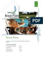 Royal Palm services analysis
