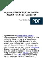 Sejarah Perkembangan Agama-Agama Besar Di Indonesia