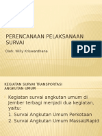 Perencanaan Pelaksanaan Survei Angkutan Umum