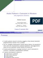 Seminario Analisi Pushover e modellazione di edifici in muratura (Crotone 2011)