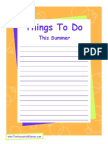 Things to Do