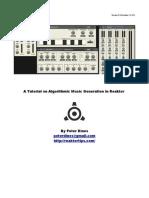Algorithmic Music Generation With Reaktor v02