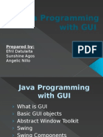 Java Programming With GUI Report