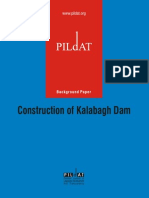 Construction of Kalaba Gh Dam Background Paper