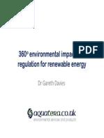 Gareth Davies_Impact and Regulation for Renewable Energy