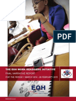 EOH Work Readiness Initiative - Final Narrative Report April 2015