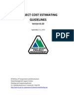 Cost Estimating Guidance