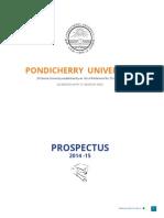 Pondiuni Prospectus 2014 15