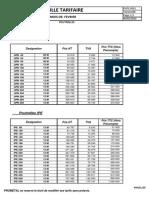 Prometal-grille Tarifaire 13 Fevrier 2014x