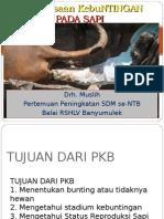 Pemeriksaan  Kebuntingan sapi Drh. Muslih.ppt