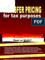 Transfer Pricing for Tax Purpose