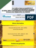 Gpc Perú 2015 Anemia Ferropénica Niños y Adolescentes