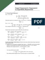 II 3 Turunan Fungsi Trigonometri Logaritmik Eksponensial
