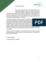 Comunicado CAAIND N°1 (04/2015)
