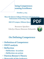 Defining Competence; Grooming Excellence