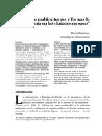 Vertovec Políticas multiculturales y formas de ciudadanía en las ciudades europeas