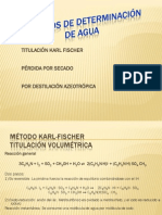 Determinacion de Agua 2014