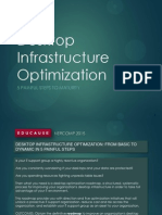 Desktop Infrastructure Optimization