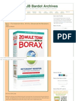 Borax -- The Inexpensive Detox, Arthritis, Osteoporosis and Mycoplasma Cure