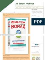 Borax -- The Inexpensive Detox, Arthritis, Osteoporosis and Mycoplasma Cure
