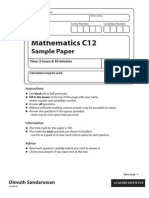IAL maths sample paper