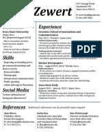 MZewert Resume