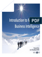 Introduction to Microsoft Bi