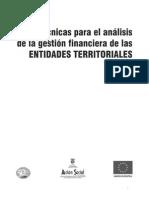 Tecnicas de Analisis de La Gestion Entidades Territoriales