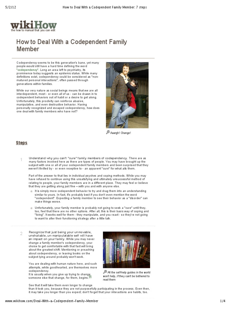 How to Deal With a Codependent Family Member images