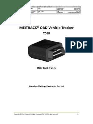 MEITRACK TC68 OBD Vehicle Tracker User Guide V1 5