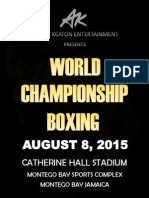 World Championship Boxing Jamaica