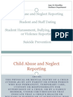 fall faculty inservice child abuse neglect
