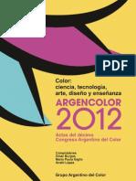 Libro de ACTAS del ARGENCOLOR 2012 E-book hasta Prólogo