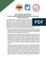 Pronunciamiento Ante las Elecciones de la/el representante del Colegio de Abogadas/os para el CNM