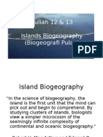 Kuliah 12 dan 13 Island Biogeography.ppt