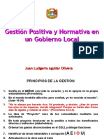 Gestión Positiva y normativa en un gobierno local