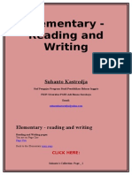 Reading and Writing Practice for Elementary Level