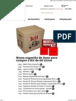 Kit 60 Litros - WE Consultoria