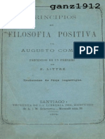 COMTE, AUGUSTO - Principios de Filosofía Positiva [por Ganz1912].pdf